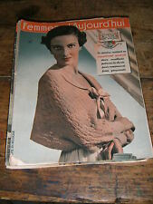 Femmes d'aujourd'hui N° 265 1950 Mode vintage 2  patrons Couture Broderie Robe