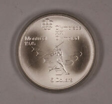1975 Canada RCM 5 Dollar Silver 1976 Montreal Olympic Games Silver Coin