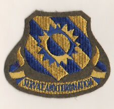 "USAF Patch 60th AIR SERVICE GROUP, AAF WWII on OLIVE DRAB Felt - 3.75"" X 3.25"""