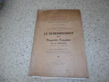1933.Remembrement de la propriété foncière dans les Ardennes.Damuzeaux