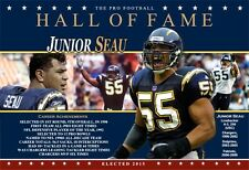 JUNIOR SEAU PRO FOOTBALL HALL OF FAME COMMEMORATIVE POSTER