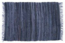 "Sturbridge 30"" x 50"" Braided Rag Rug, Denim Blue, 100% Cotton, Multi-Color Acent"