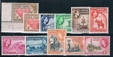 Gold Coast 1952-4 Definitive Pt set to 2/- + SG 153/62 MNH