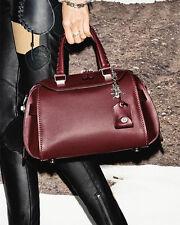 COACH ACE  NWT  Leather Satchel Bag Burgundy Handbag Crossbody