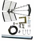 A GRADE 64 Element Digital TV DIY Aerial Kit+ Tri-Boom 4G LTE CAI Approved