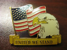 """United We Stand"" Pin - Flag & Eagle"