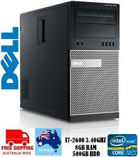 * FREE POSTAGE* Dell Optiplex 990 MT- Intel Core i7 2nd Gen, 8GB RAM, 500GB HDD