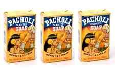 PATCHOULI SCENTED SOAP 3.3oz JABON de PACHOLI SAVON QTY-3