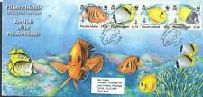 PITCAIRN ILDS, 2010 ENDANGERED REEF FISH, FDC, CAT £ 8+,