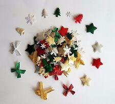 100 Variados Tejido Navidad Detalles Ligeramente Acolchado de 7mm a 22mm