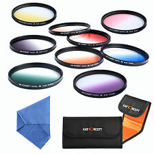 9Pcs 67mm Graduated Colour ND Lens Filter Kit Set for Nikon D7000 D90 18-105mm