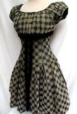 FABULOUS..VTG 1950'S..BETTY LOU..TAFFETA..DRESS..sz 3/4