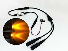 Micro Effects Light 2X amber LED & control flash blink strobe 9V prop MELKITA-4B