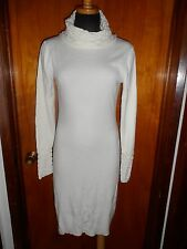 ``Victoria's Secret Moda International Ivory Cowl Turtleneck Sweater Dress S New
