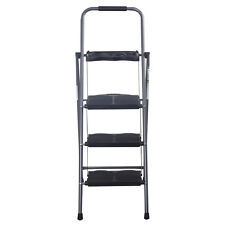 New HD 3 Step Ladder Platform Folding Stool 330 LBS Capacity Space Saving w/Tray