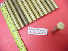 """12 Pieces 1/2"""" C360 BRASS ROUND ROD 4"""" long Solid New Lathe Bar Stock H02 .500"""""""