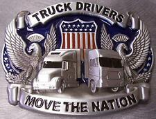 Pewter Belt Buckle American Truck Drivers Move Nation N