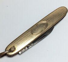 Antique Edwardian Gold Plated Hayward Pocket Knife. Hand Chased. NO MONOGRAM