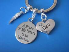 In MEMORIA DI PAPA 'PORTACHIAVI PAPA' REGALO di condoglianze in simpatia Padre perdita Angel Wing