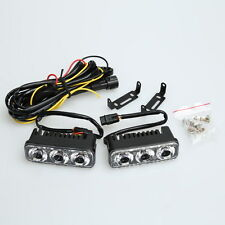 2X 6 LED 9W Universal Waterproof DC12V DRL Daytime Running Light Lamp Bulb White