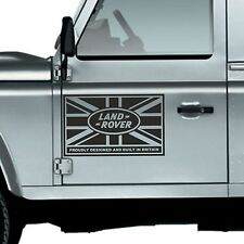 LAND ROVER DEFENDER 90 / 110 Aftermarket UK Flag DECAL Door Sticker SET Union