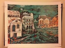 GRAHAM FOSTER Bermuda Night Fishing Poster Print SIGNED AUTOGRAPHED