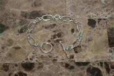 Tiffany & Co Paloma Picasso Groove Oval  Link Bracelet Sterling Silver Toggle