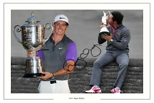 RORY MCILROY 2014 MAJOR MONTAGE GOLF 2014 SIGNED PHOTO PRINT US PGA THE OPEN