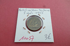 BRITISH CARIBBEAN TERRITORIES 5 CENTS 1955 - OLD COIN - REF10057