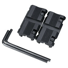"1 Pair Picatinny 11mm Dovetail To 7/8"" 20mm Weaver Rail Adapter Mount New"