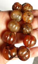 ANCIENT OLD CARNELIAN MELON Spiritual Bead Necklace NEPAL. 150 + YEARS OLD.