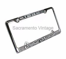 1951 Ford Pickup License Plate Frame F1 Truck Chrome With Black Background