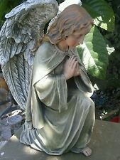concrete plaster mold(kneeling Praying Angel Cherub )latex n fiberglass