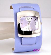 Ossie Eames Retro 60s 70s Club Bubble Pod Lilac Faux Leather Ladies Cuff Watch