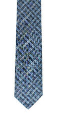 Joseph Abboud Mens 100% Silk Classic Neck Tie Woven Geometric Design JA19 Blue