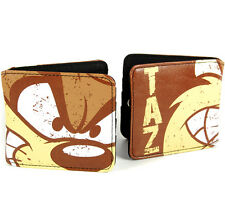 NEW TAZ TASMANIAN DEVIL WALLET COIN POCKET GIFT RETRO CARTOON TV FAUX LEATHER