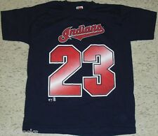 David Justice Cleveland Indians Vintage 90s Jersey T-Shirt sz. XL New w. TAGS