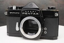 :Asahi Pentax Spotmatic SP 35mm Film SLR Black Paint Camera Body
