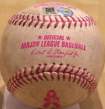 ANDREW SUSAC GAME-USED MOTHERS DAY PINK MLB BASEBALL SF GIANTS MARLINS 5/10/2015