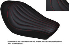 RED STITCH LINE DESIGN CUSTOM FITS HARLEY SPORTSTER IRON 883 SOLO SEAT COVER