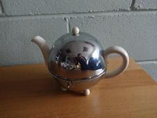 VINTAGE ART DECO CHROME EVER HOT INSULATED TEAPOT