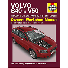 HAYNES MANUAL VOLVO S40 & V50 MAR 04-JUN 07 04 TO 07 REG PETROL AND DIESEL