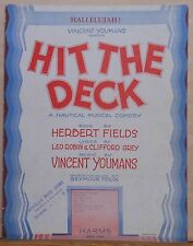 "Hallelujah - from nautical musical comedy ""Hit The Deck"" - 1927 sheet music"