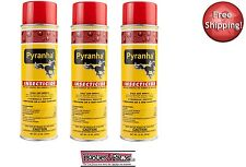 (3) pack BEST BUY Pyranha Insecticide Aerosol Premise And Horse Fly Spray 15 oz