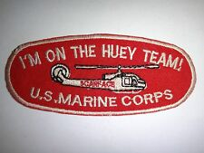 "USMC VMO-3 SCARFACE Helicopter UH1E ""I'M ON THE HUEY TEAM"" Vietnam War Patch"
