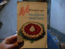 Vintage Cookbook 44 Wonderful Ways to Use Philadelphia Brand Cream Cheese