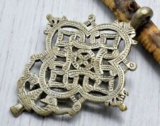 Hand Crafted Silver Ethiopian Orthodox Coptic Cross Pendant from Axum,African