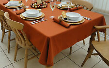 "55x98"" (140x250cm) CHRISTMAS BURNT ORANGE OBLONG TABLECLOTH - 8 SEATER"
