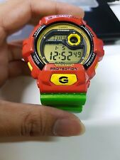 Vintage G-shock G-8900A Special Rasta Reggae Hip-hop Metallic Green Band Limited