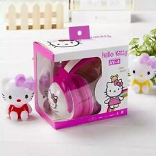 New Pink Hello Kitty Earphone Girls with Mic Cartoon Headset for Cell Phone MP3